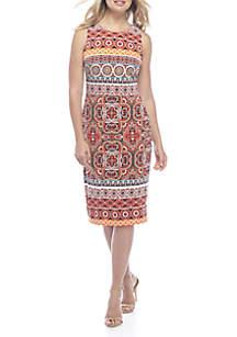 Halter Cut Midi Dress