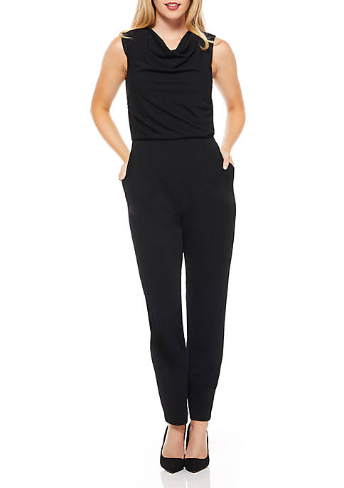 Maggy London Sleeveless Cowl Neck Jumpsuit