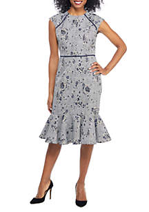 Rose Plaid Flounce Dress