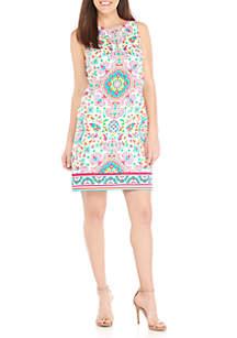 Sleeveless Cotton Shift Dress