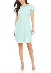 Catalina Crepe Fit and Flare Dress
