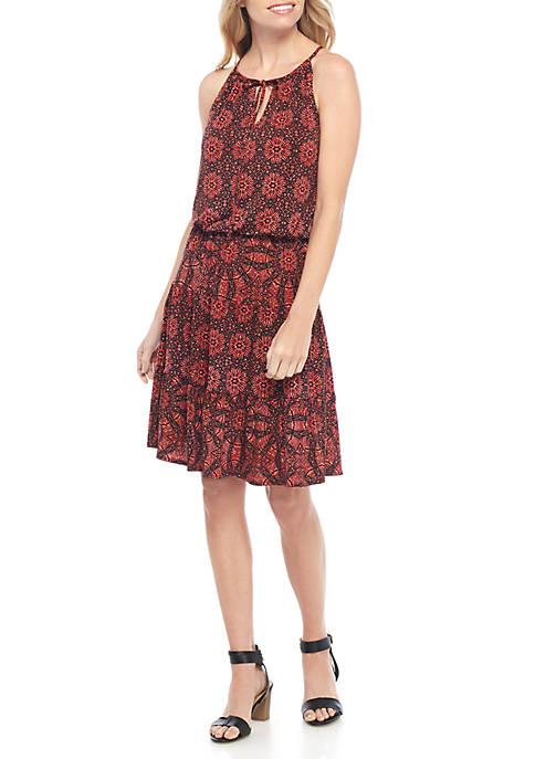 Batik Print Halter Dress