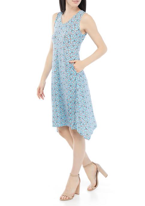 AK Anne Klein Womens Sleeveless Side Gusset Floral