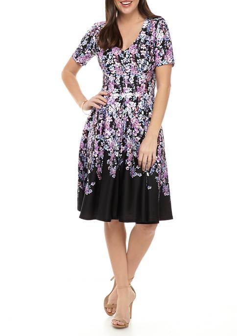 Womens Short Sleeve V-Neck Dress