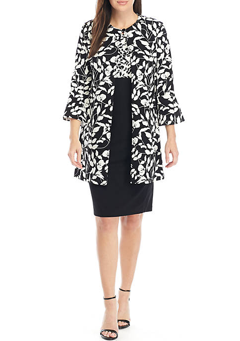 Danny & Nicole Long Floral Jacket Topper and