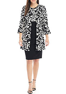 Danny & Nicole Long Floral Jacket Topper and Dress