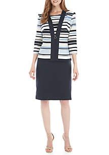 475d6d58370c0 ... Danny & Nicole 2 Piece Stripe Jacket and Dress