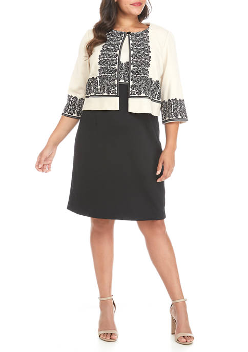Danny & Nicole Plus Size 2 Piece Placed