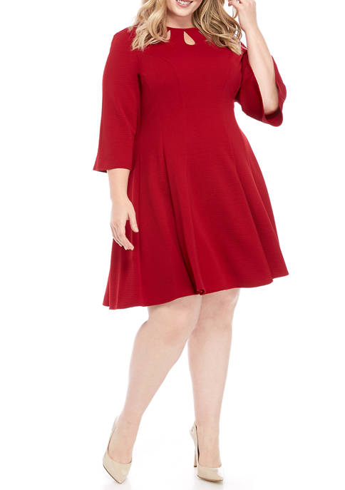 Gabby Skye Plus Size Fit and Flare Dress