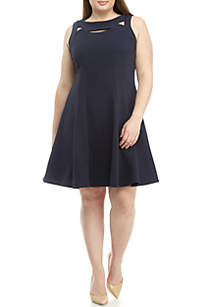 a489752f250 ... Gabby Skye Plus Size Sleeveless Cut Out Textured Knit Dress