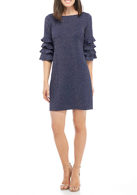 GLAMOUR BY Gabriella Skye Ruffle Sleeve Knit Dress