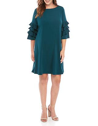 Plus Size Ruffle Sleeve Gigi Sheath Dress