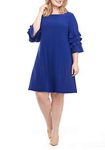 Ruffle Sleeve Gigi Sheath Dress