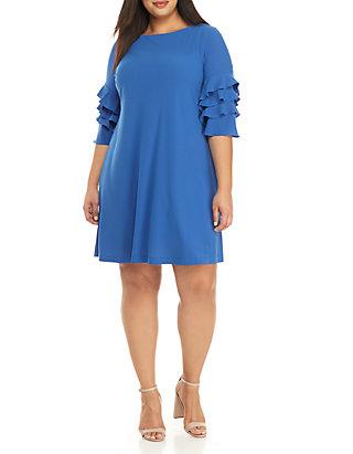 Gabby Skye Plus Size Ruffle Sleeve Gigi Sheath Dress | belk