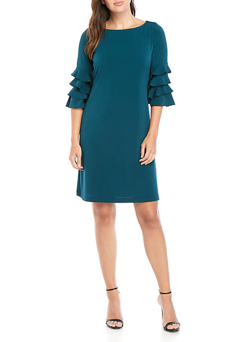 Gabby Skye Ruffle Sleeve Gigi Sheath Dress