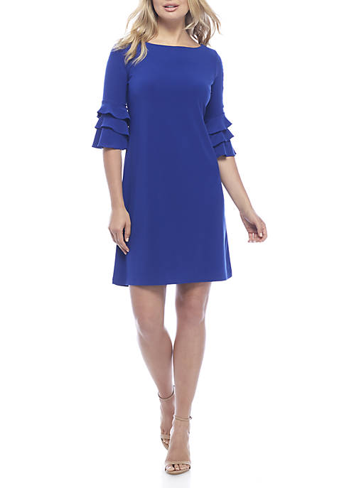 Gabby Skye Ruffle Sleeve Gigi Sheath Dress