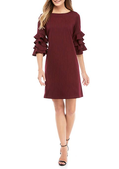 Womens Cha Cha Sleeve Jacquard Dress
