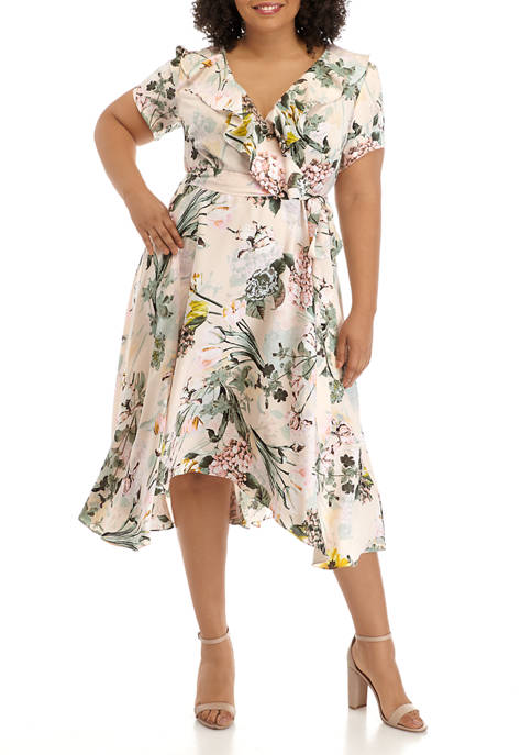 DN Designs Plus Size Ruffle Dress