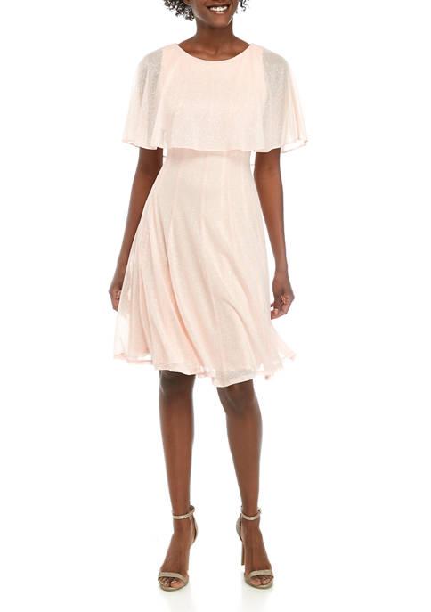 Cape Sparkle Dress