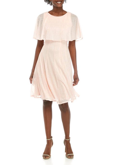 Gabby Skye Occasion Cape Sparkle Dress