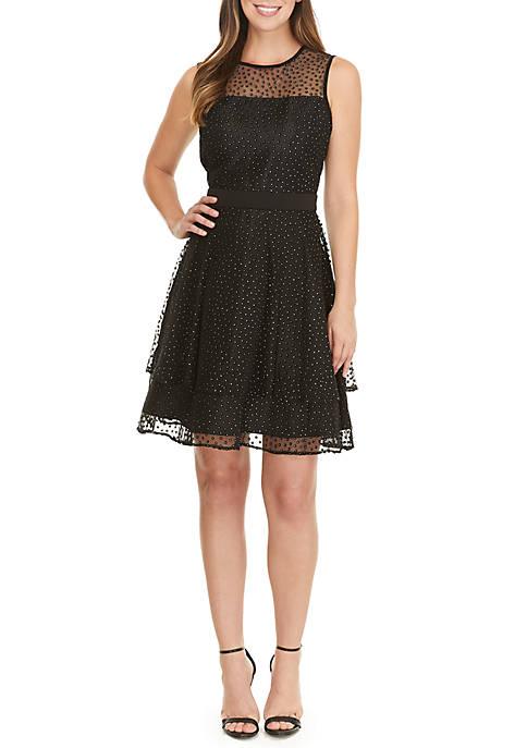 GLAMOUR BY Gabriella Skye Glitter Dot Dress