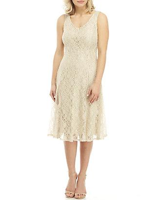 dcfee0a212123 GLAMOUR BY Gabriella Skye Sleeveless Lace Midi Dress   belk