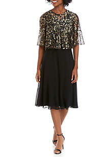 72708a88a ... Gabby Skye Occasion 3/4 Sleeve Lace Chiffon Jacket Dress