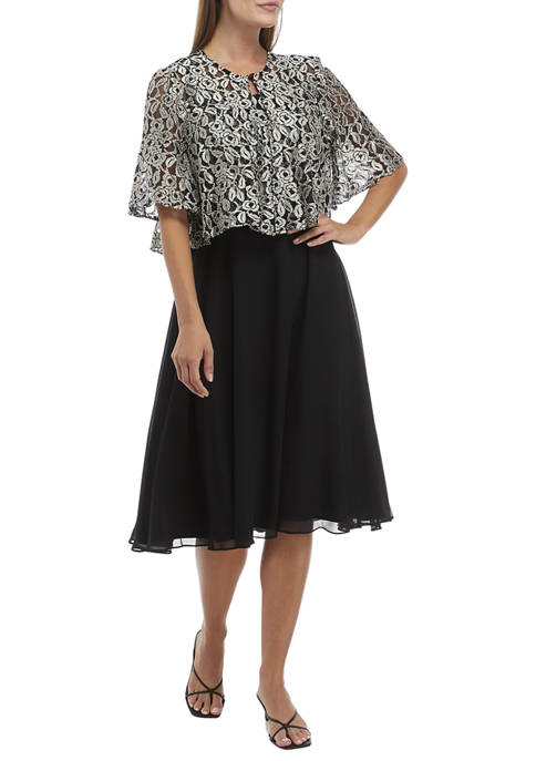 Gabby Skye Occasion Womens Multi Lace Dress with