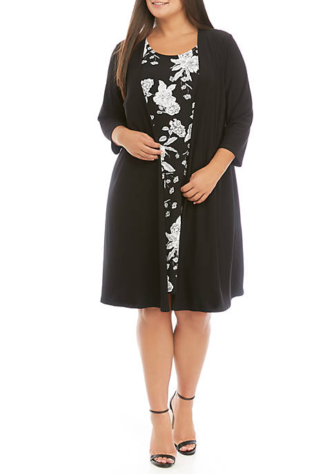IVY ROAD Plus Size Puff Print Dress with