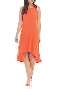 MSK Sleeveless High Low Hem Dress
