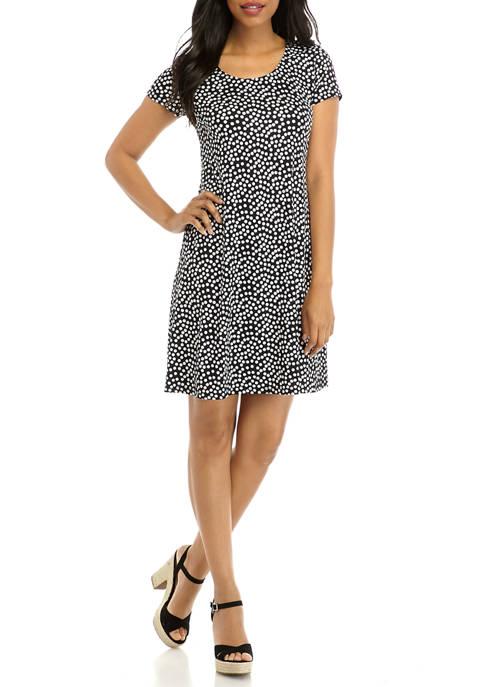 Womens Dot A Line Dress