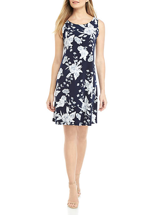 IVY ROAD Sleeveless Floral Tank A Line Dress