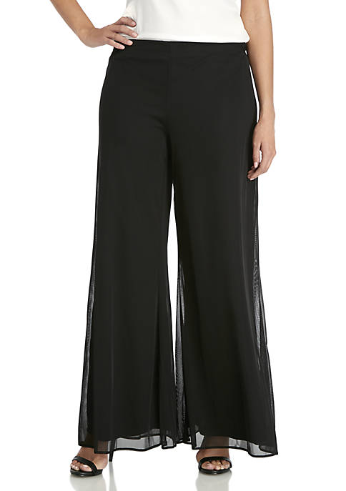 MSK Womens Wide Leg Pants