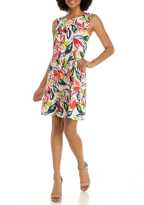 JBS Womens Sleeveless Floral Bar Back A Line
