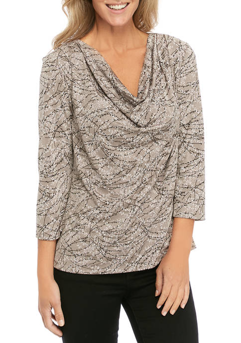 Womens Puff Top with Glitter