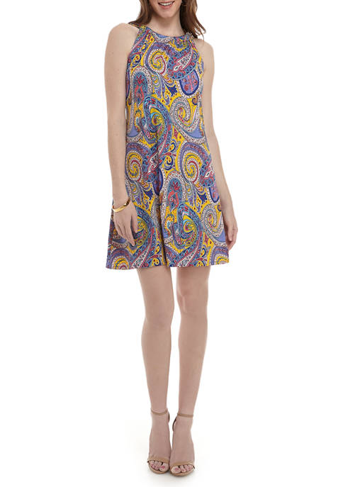 JBS Womens Paisley Halter Dress