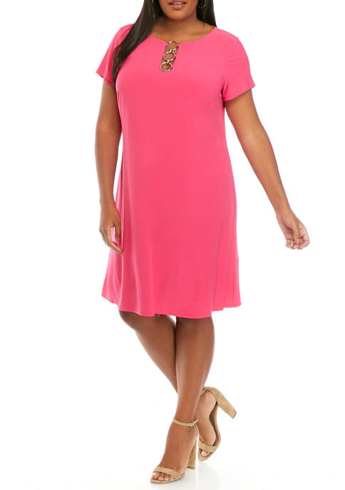 IVY ROAD Plus Size Short Sleeve 3 Ring