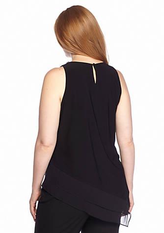 c90df9c254e ... MSK Plus Size Blouse with Embellished Neckline