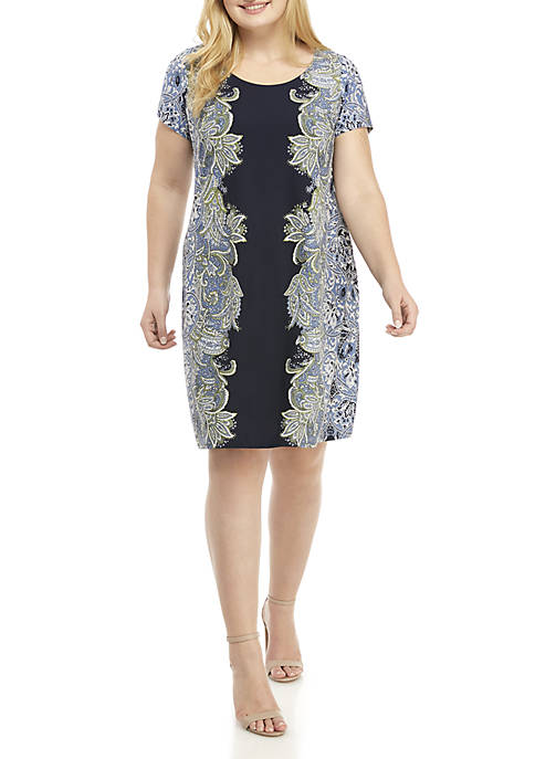 IVY ROAD Plus Size Short Sleeve Center Front