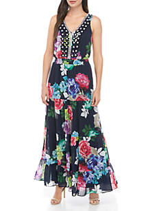 MSK Sleeveless Printed Maxi Dress
