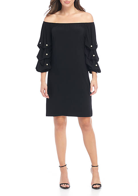 MSK Off the Shoulder Pearl Sleeve Jersey Dress