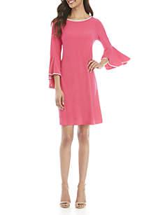 MSK Long Bell Sleeve Shift Dress