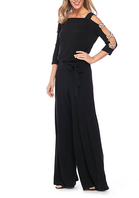 MSK Three-Quarter Sleeve Jumpsuit