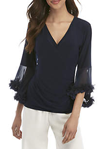 MSK Ruched Waist Top