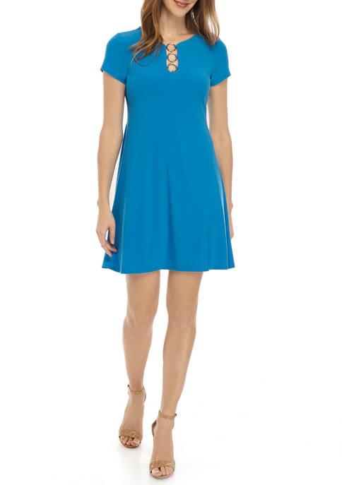 IVY ROAD Short Sleeve 3 Ring Dress