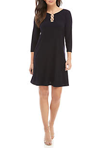 MSK Ring Neckline Jersey Shift Dress