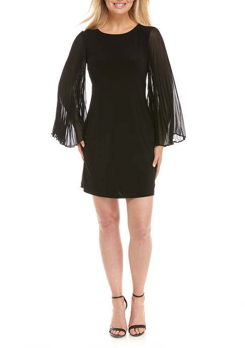 IVY ROAD Womens Long Flare Sleeve A-Line Dress