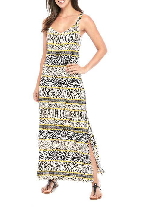 Womens Animal Print Maxi Dress