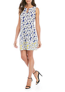 ce797cd9abe ... IVY ROAD Ring Neck Mixed Print Dress