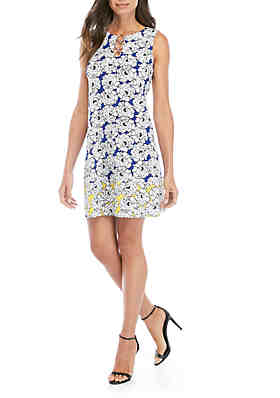 f36a342062794 IVY ROAD Ring Neck Mixed Print Dress ...